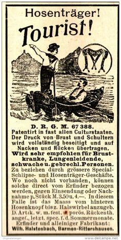 Original-Werbung/ Anzeige 1897 - HOSENTRÄGER TOURIST - ca. 45 x 90 mm
