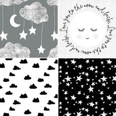 { M O N O C H R O M E }  i am LOVING these fabrics to the moon and back classic black  white PERFECT for your new babes  and that MOONFACE? big enough to be the front of your new cot quilt   a couple of custom places are available in my etsy store or message me for booking info x  #handmade #heirloom #customorder #quilt #patchwork #cotquilt #nurserydecor #nursery #nurserybedding #babybedding #kidsdecor #kidsinterior #kidsbedding #monochrome #blackandwhite #scandi #classic  #moonandstars…