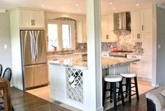 The Best Open Concept Kitchen Design Trends of 2018 Open concept kitchen- living room is perfect for small apartments but it also looks gorgeous in big spaces when the kitchen is connected with the dining room - March 24 2019 at Small Kitchen Renovations, Small House Renovation, Bungalow Renovation, Small Bungalow, Bungalow Decor, Bungalow Designs, Open Concept Kitchen, Cuisines Design, Living Room Kitchen