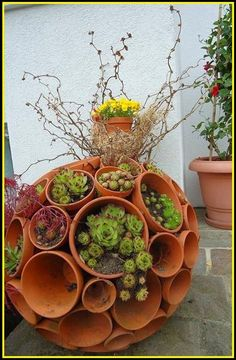 Flower pot circle ! - source-  Plants and Gardens #Flowers