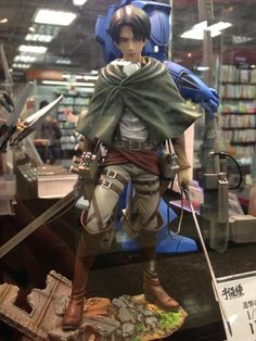 levi attack on titan figure-ref for military outfit.
