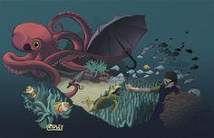 Octopus Garden by RidleyLitton.deviantart.com on @DeviantArt