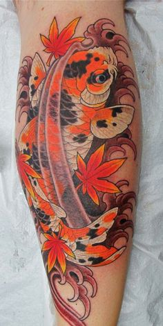 Koi Tat, Japanese Maple Leaf...I like it...but with a different color scheme