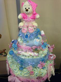 Big diaper cake