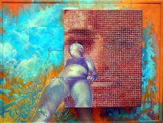 LANDSCAPE III., 65 x 85, oil, mirror