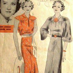 30s summer dress pattern