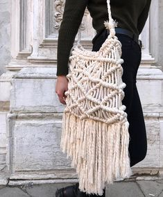 Macrame bag Macrame bag pattern Handbag macrame pattern