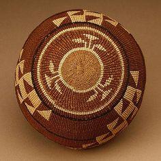 A Native American North West Hupa/Yurok woven cap / basket
