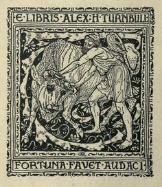 Bookplate by Walter Crane for Alex H Turnbull, ??