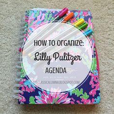 Lilly Pulitzer Agenda Organization