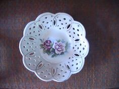 Vintage Floral Candy Dish by CarmelasCreations on Etsy, $10.00