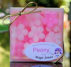Peony Handcrafted Glycerin Soap from @magicsenses