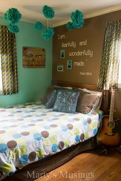 15 Teen Girl Bedroom Ideas That are Beyond Cool: My daughter has had the black and hot pink bedroom going 15 bedrooms for teenage girls that are beyond cool. These teen girl bedroom ideas are sure to…More Teenage Girl Bedroom Designs, Teen Girl Rooms, Teenage Girl Bedrooms, Girls Bedroom, Bedroom Wall, Diy Bedroom, Teen Bedroom Ideas For Girls Teal, Bed Room, Warm Bedroom