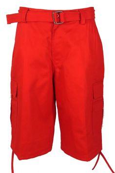b2ab96ca91 Henry & William Men's Heavy Twill Cargo Shorts (Orange, Purple, Red, Royal  Blue, Turquoise, White, Yellow)