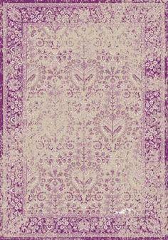 Orientalischer Design Teppich Kumsal | mit Hochtief- Optik, Größe:200x300;Farbe:lila/creme: Amazon.de: Küche & Haushalt