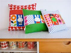 Jane Foster's vintage fabric children's cushions