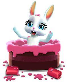 ... e naturalmente aparece de dentro de um bolo para seus desejos do aniversário!