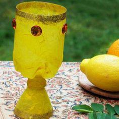 Recycled bottle craft . Princess Jasmine goblet