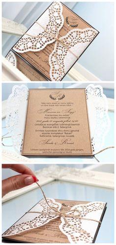 Vintage Einladung zur Hochzeit im ausgefallenen Design als