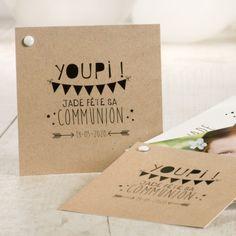 Carte invitation communion youpi