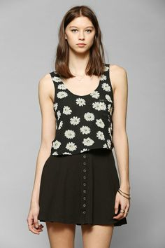 Lucca Couture Chiffon Cropped Tank Top