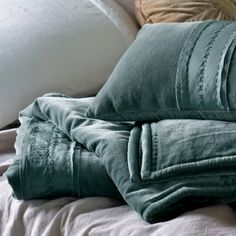 Teal Velvet & Silk Quilt - blue bedspreads-double-kingsize-superking | Primrose & Plum