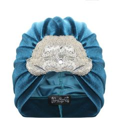 The Future Heirlooms Boutique Olwin Velvet Turban in Teal