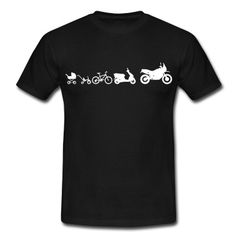 Die Evolution einer Enduro Adventure in Bilder vom Dreirad hin zum ersten Fahrrad, dann der erste Roller bis zum schluß das Motorrad folgt.