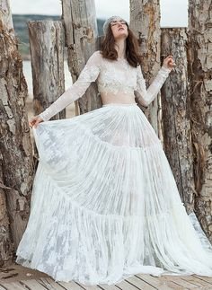 Chic & Daring Boho Wedding Dresses: Costarellos Bridal 2016! see more at http://www.wantthatwedding.co.uk/2015/05/05/chic-daring-boho-wedding-dresses-costarellos-bridal-2016/