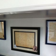 My pinterest project, framed my mom's recipes! Priceless