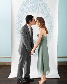 lace wedding backdrop diy... Homemade photobooth!