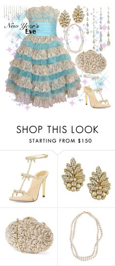 News Year Eve by ellary-branden on Polyvore featuring René Caovilla, STELLA McCARTNEY, Miriam Haskell, Betsey Johnson and nyestyle