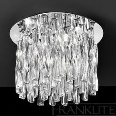 Franklite Lightings Glacial range is available from Luxury Lighting. Stylish, contemporary glass and chrome wall and ceiling lights. Modern indoor lighting for your home. Luxury Lighting, Lighting Store, Semi Flush Ceiling Lights, Exterior Lighting, Light Fittings, Love And Light, Chrome Finish, Interior And Exterior