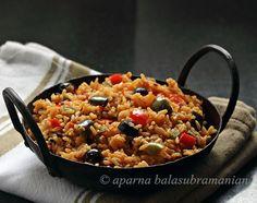 Vegetable Paella (Spanish Saffron Flavoured Tomato Rice)