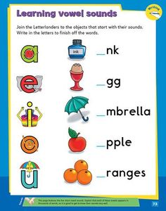 My Second Phonics Activity Book Phonics Activities, Book Activities, Vowel Sounds, Writing Skills, Learn To Read, Spelling, Literacy, Letters, Learning