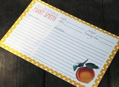 I found them! Peach recipe cards! :-D