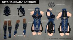 Mortal Kombat X: Fatal Gemini Pack *FAN MADE Concept Art* Kitana A skin pack I thought of for Kitana and Mileena for the upcoming Mortal Kombat X! Kitana's skin is klassicaly inspired but I made it so that it felt like it fits in with the mood and. Hero Costumes, Diy Costumes, Cosplay Costumes, Halloween Costumes, Cosplay Ideas, Anime Costumes, Kitana Costume, Kitana Cosplay, Mortal Kombat Costumes
