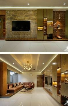 House Ceiling Design, Small House Interior Design, Ceiling Design Living Room, Home Design Living Room, Tv Wall Design, Dream Home Design, Living Rooms, House Design, Living Room Designs India