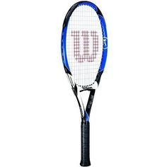 Wilson [K] Four Strung Performance Value Tennis Racket (Blue/Black, 4 3/8) by Wilson. $99.95