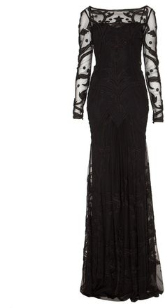 Temperley London Long Francine Tattoo Dress - Lyst- $3510