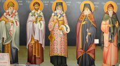 Themis Petrou - Τhree Prelates Chapel (athens, Greece) - Find Creatives Saint Anthony Church, Athens Greece, Fresco, Scene, Artists, Creative, Saints, Icons, Fresh