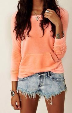 Lovely coral #sweater