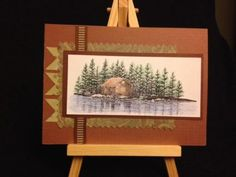 Handmade Blank Notecard Log Cabin In The Woods Stampscapes Thank You Card by eBay seller birdwatcher70