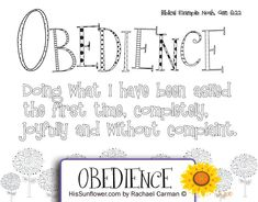 obey god coloring page - Google Search