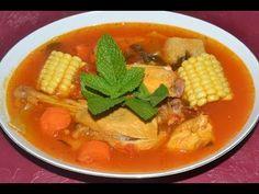 Sopas De Pollo Con Fideos Criollas - YouTube