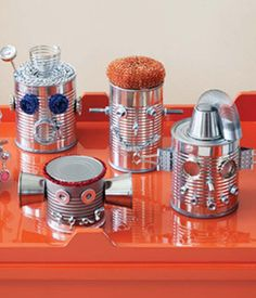 Robot Party Theme Snack Ideas | robot-birthday-party-tin-can-craft « Canadian Family