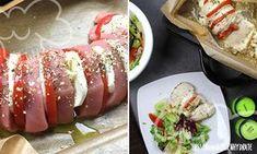 Lecker und einfach. Der Ofen macht die Arbeit – heraus kommt eine leckere Low-Carb Proteinbombe mit Tomate-Mozzarella:   Die Zutaten werden einfach geschichtet. Gewürzt geht es dann ab in den Ofen.