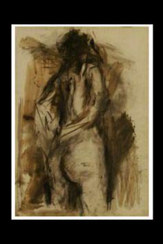 """Eugène Leroy - """"Sans titre"""", 1980/90 - Technique mixte - 108 x 75 cm."""