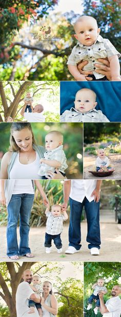 6 month old baby boy park photo session