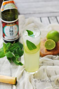The Sake Mojito. Make just like reg mojito but w sake. Good that its not strong Japanese Drinks, Japanese Sake, Japanese Food, Japanese Party, Cocktails, Cocktail Drinks, Cocktail Recipes, Alcoholic Drinks, Cocktail Club